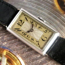 Ladies Original 1925 Busga Swiss Sterling Silver EXPLODING Number Art Deco Watch