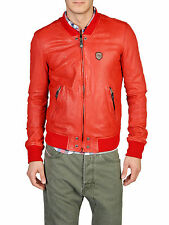 DIESEL LIBRASS RED LEATHER JACKET SIZE L 100% AUTHENTIC