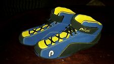 PILOTI Ingels Black Yellow Suede Racing Driving Boot Sneaker Shoes 9 Leather