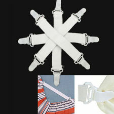 4pcs Bed Sheet Mattress Keep Snug Cover Blankets Grippers Clip Holder Fasteners