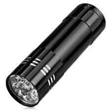 9 ULTRA BRIGHT LED POWERFUL SMALL CAMPING TORCH FLASH LIGHT LAMP LIGHTS BLACK!