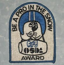 Ozzy OSDA Award Patch - Be A Pro In The Snow - Ontario Snowmobile Distr. Assoc.