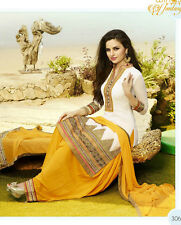 Patiala Indian Desinger Georgette dress material,Salwar suit unstitches material