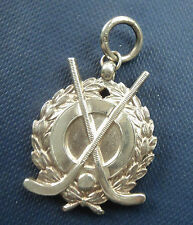 Vintage Sterling Silver Medal / Watch Fob 1930 - Hockey / Shinty - not engraved