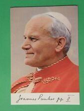 Karol Wojtyla Papa Giovanni Paolo II secondo cartolina