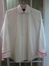 Simon Carter London White Button Up Long/S French Cuffs Dress/S Men 16-41 **EX**