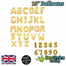 "Gold, Silver, Blue & Pink 16"" Alphabet Letter Number Foil Balloons *NAME *PARTY"
