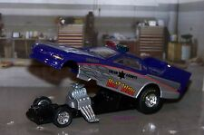 PONTIAC FIREBIRD POLICE  DRAG RACING PROGRAM FUNNY CAR 1/64 SCALE DIECAST MODEL