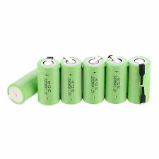 Pro 6PCS Sub C SC 1.2V 2200mAh Ni-Cd NiCd Rechargeable Battery Batteries -Green