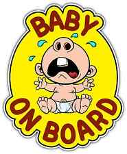 "Baby On Board In Car Sign Crying Car Bumper Window Locker Sticker Decal 5""X6"""