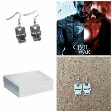 Avengers Ironman Mask Charm Dangle Earrings W/Gift Box USA Seller