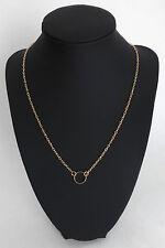 Idée cadeau bijoux Saint Valentin: Fin collier doré - pendentif petit cercle