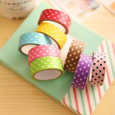 Farbige Washi Masking Tape Klebeband Klebebänder DIY Papier Decor Stickers Neu