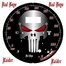 yamaha Star Raider 1900  Custom Speedometer Face Plate  Punisher KM/H  & MPH