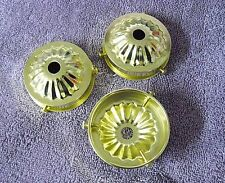 """Lot of 3 Holder Cup 2 1/4"""" Fitter Glass/Shades Lamp Part Steel Brass Plate"""