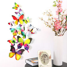12 Art Decal Home Decor Room Wall Stickers 3D Butterfly Stickers Decorations