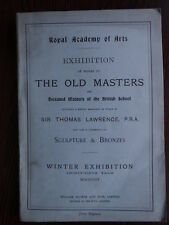 Catalogue Exhibition Old masters of British School - Thomas Lawrence - 1904