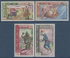 LAOS N°82/85** Expo philatélique à Ventiane , TB, 1962, SC #77-80  MNH