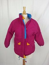 Rock Creek Women's Multi Color Fuschia Ski Snow Jacket Coat sz 12 Hong Kong EUC
