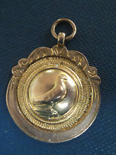 9ct Rose & Yellow Gold Stockport Pigeon Fob Medal / Pendant  h/m 1930 Chester