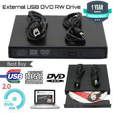 Nuevo USB 2.0 Unidad De Cd Dvd Rw Drive Externo Quemador Lector Copiadora Escritor Reino Unido Stock