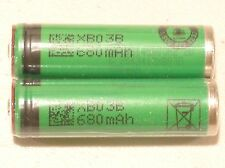 2 New Sony US 14500 VR2 Li-Ion 680mAh Rechargeable AA Battery 3.7V  BUTTON TOP
