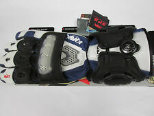KNOX BIOMECH UNLINED MOTORCYCLE GLOVES XL BLUE