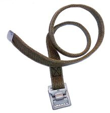 "German Army Strap 56cm 22"" metal buckle thick strong vintage tie down pull tight"