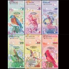 Bermuda Full Set 6 PCS, 2+5+10+20+50+100 Dollars, 2009, P52-62, UNC Specimen set