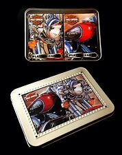 Harley Davidson Collector Tin with 2 Unopened Decks Of Playing Cards NIP