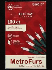 NEW 100 CLEAR MINI GREEN WIRE CHRISTMAS TREE STRING LIGHTS HOLIDAY PARTY LIVING