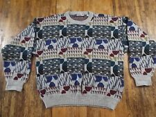 Mens Medium (M/50) PROGETTO Italy Crewneck Wool/Acrylic Blend Sweater