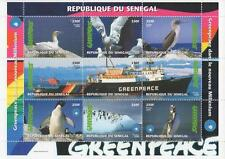 GREENPEACE PENGUIN ANTARTICA WILDLIFE REPUBLIQUE DU SENEGAL MNH STAMP SHEETLET