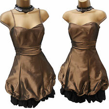 COAST Bronze Black 50's Bubble Corset Prom Party Cocktail Dress UK 10 RRP £135