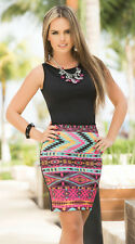 Espiral 4907 Tribal Print Dress