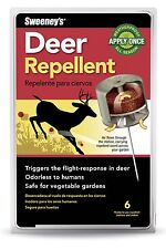 NEW Woodstream S5600 Sweeney's Deer Repellent 6 ready To Use Stakes and Stations