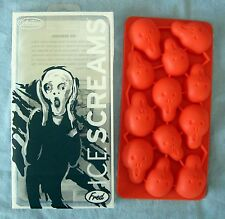 Halloween Silicone Ice Screams Ice Cube Tray Fred and Friends Edvard Munch