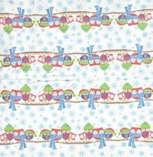 3 Mouchoirs en papier Hibou en hiver - Paper Hanlies Owl Such a cold - Serviette