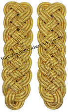Military Shoulder Epaulette Board Gold  Army Navy shoulder Board Pair