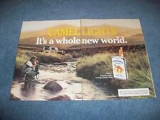 1984 Camel Cigarette's Vintage 2pg Ad with Land Rover 4x4