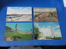 4 Postcards - Daytona Beach FL - Beach View, Clock Tower, Pier Casino, Whitehall