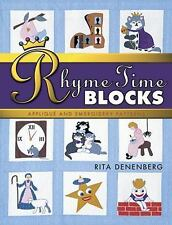 Rhyme-Time Blocks : Applique and Embroidery Patterns by Rita Benenberg