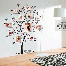 2016 Beauty FAMILY PHOTO TREE FRAME Vinyl Wall art Stickers Home Decals QR4