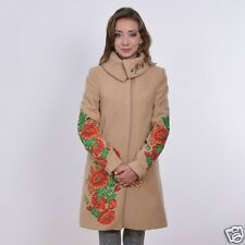 Ukrainian embroidered cashmere warm coat for women, blouse, vyshyvanka. 3 colors