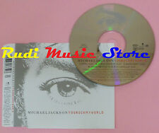 CD Singolo MICHAEL JACKSON You rock my world 2001 austria EPIC mc dvd (S10)