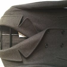 NEW GENUINE MARGARET HOWELL/FOX BROS TWEED 3/4 DOUBLE BREASTED PEA COAT - 14 +