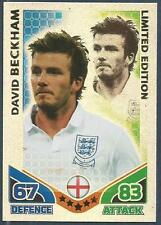 TOPPS MATCH ATTAX WORLD CUP 2010-LIMITED EDITION-ENGLAND-DAVID BECKHAM-FOIL