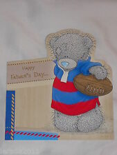 FATHERS DAY CARD OPEN CUTE TATTY TEDDY BLUE NOSE BEAR FATHER'S DAY CARD