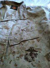 USMC BDU MARPAT DESERT CAMO CAMOUFLAGE  COMBAT BLOUSE  SIZE MEDIUM