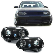 Black clear finish projector headlights for R32 LOOK for VW Golf 4 97-03